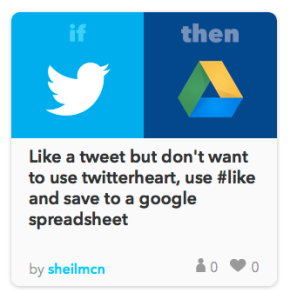 screenshot of IFTTT recipe